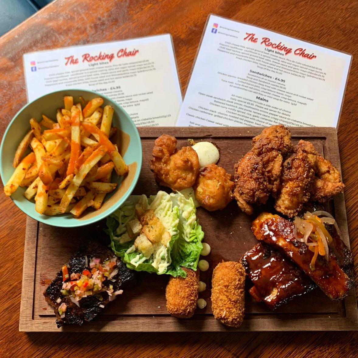 Our brand new sharing platter 🤤Available every Friday & Saturday at the rocking chair! ♂️